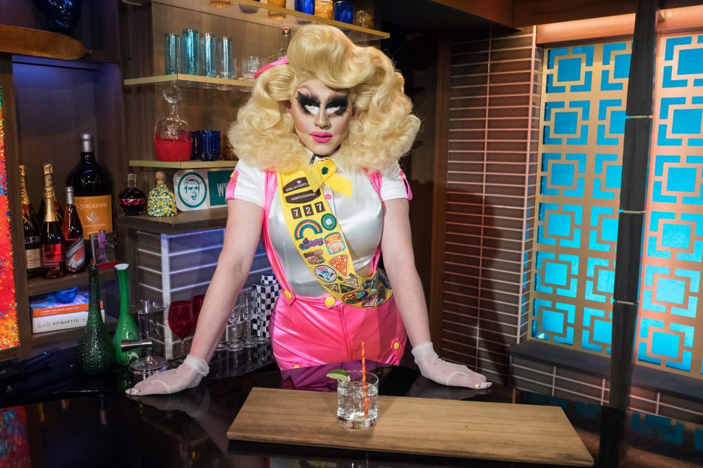 Trixie Mattel at Andy Cohen