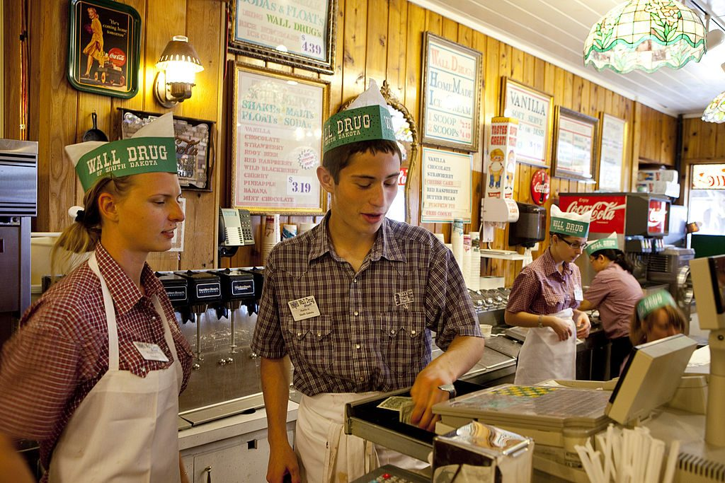 Wall Drug Ice Cream Counter