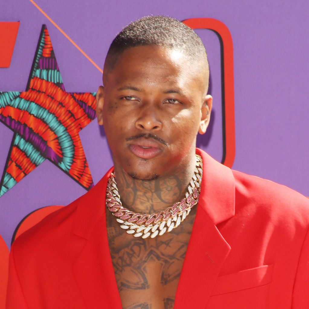 YG arrives to the 2018 BET Awards held  at Microsoft Theater on June 24, 2018 in Los Angeles, California | Michael Tran/FilmMagic