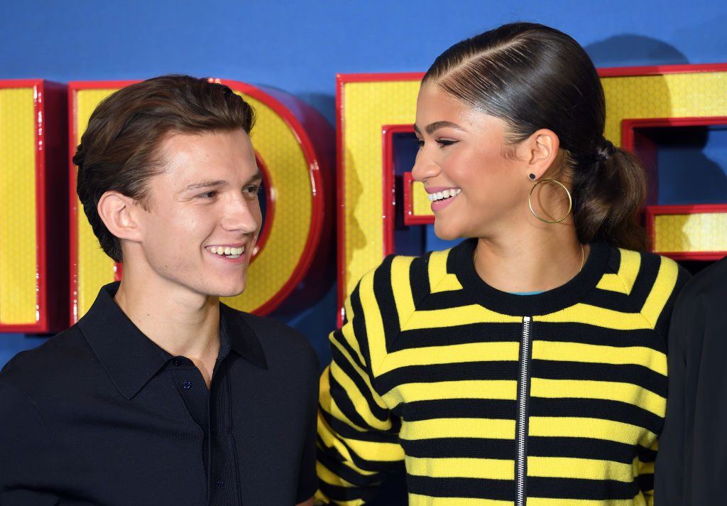 """Tom Holland and Zendaya attend the """"Spider-Man : Homecoming"""" photocall"""