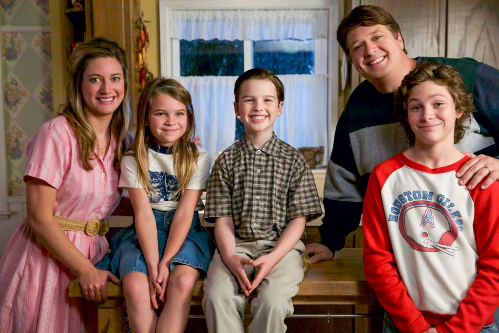 Zoe Perry (left) with Young Sheldon cast|Cliff Lipson/CBS via Getty Images