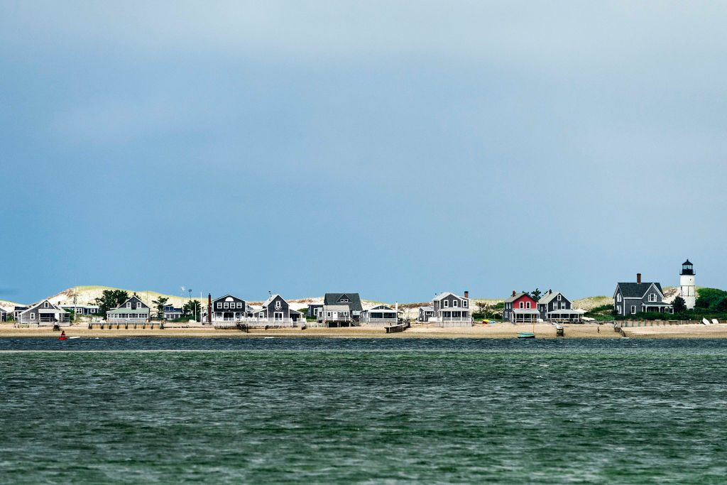 Cottages on the beach in Cape Cod
