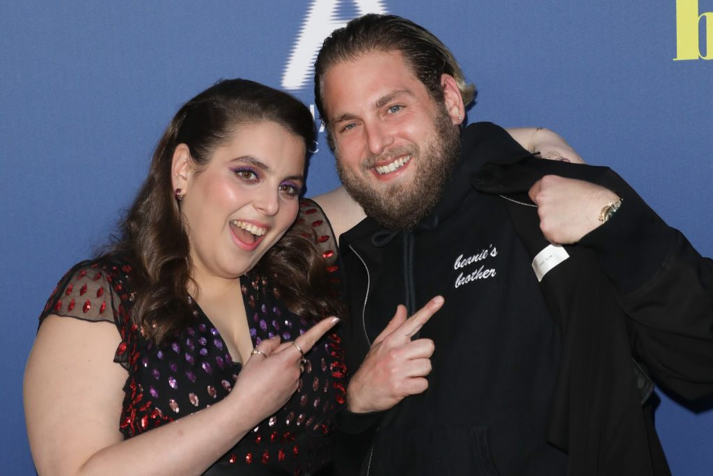 Actors Beanie Feldstein (L) and Jonah Hill (R) attend the LA special screening of Booksmart at Ace Hotel on May 13, 2019.