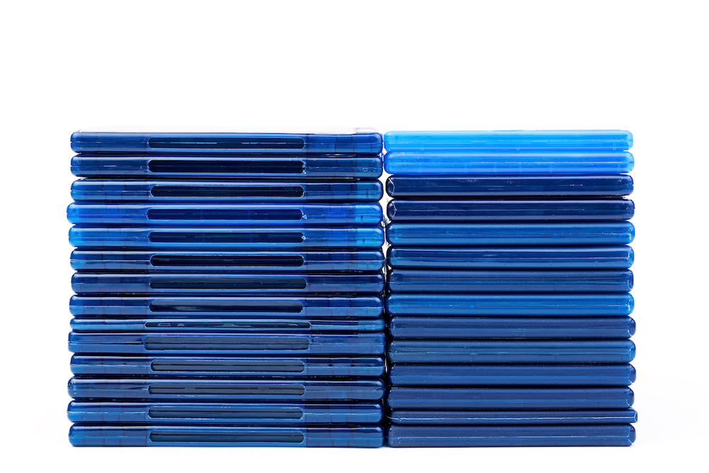 Stack of blu-ray cases