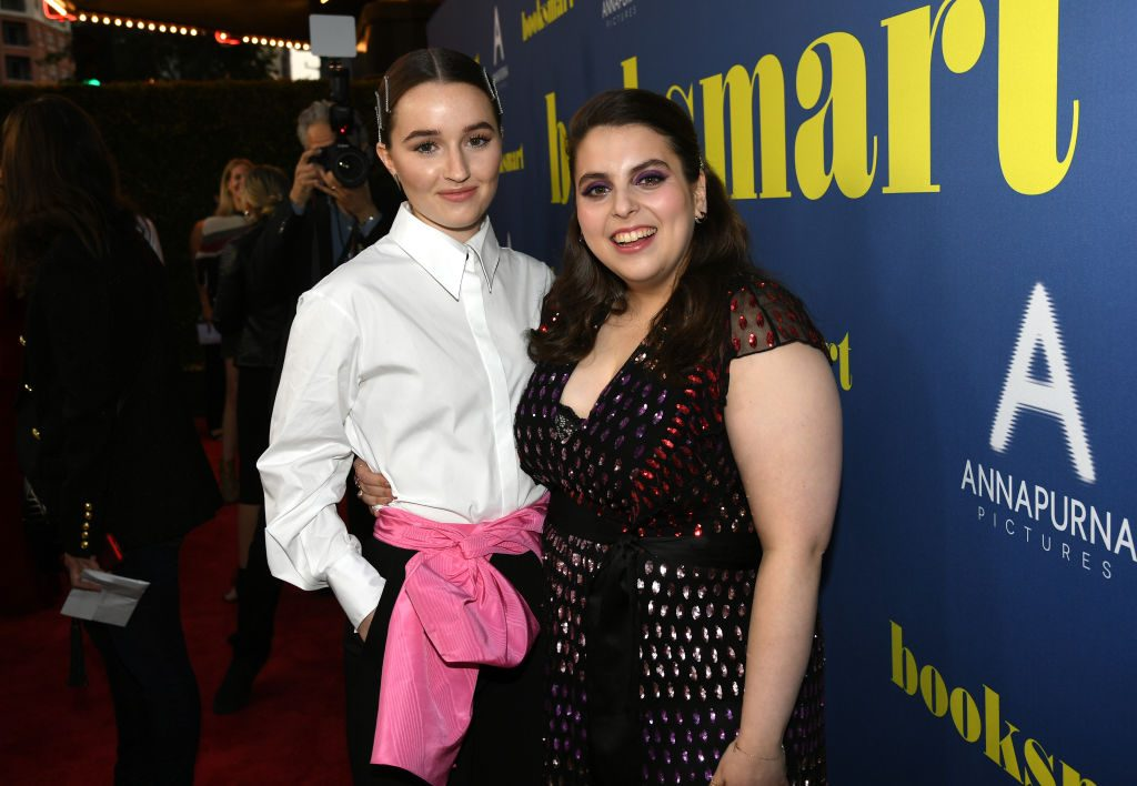 Kaitlyn Dever and Beanie Feldstein attend the LA special screening of Annapurna Pictures' Booksmart at Ace Hotel on May 13, 2019.