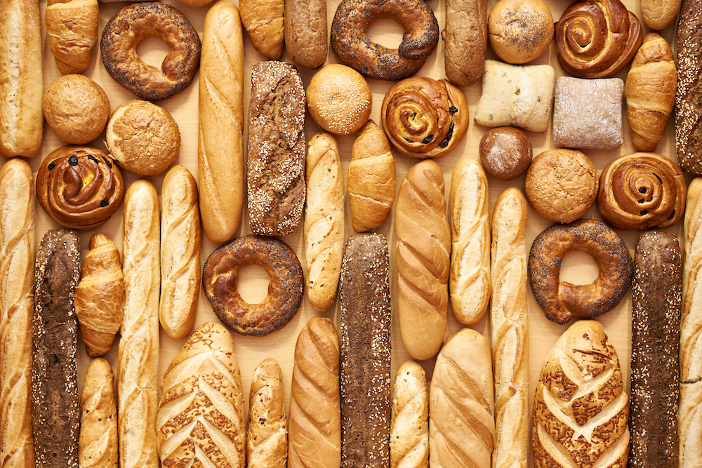 Freshly baked bread and rolls