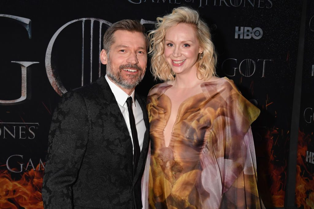 Nikolaj Coster-Waldau and Gwendoline Christie