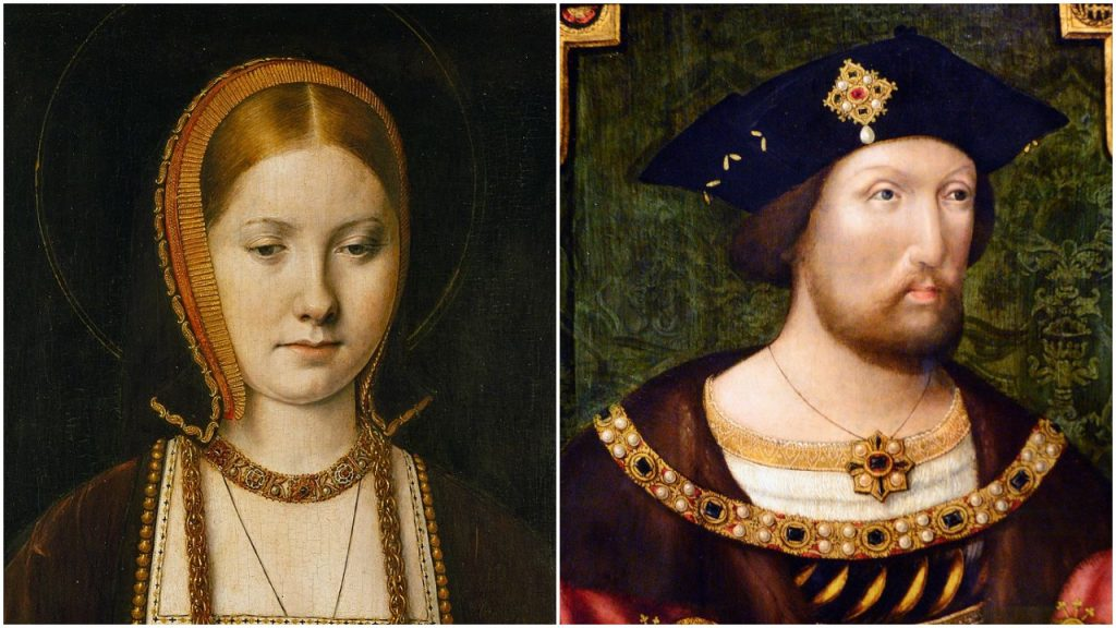 portraits of Catherine of Aragon and Henry VIII