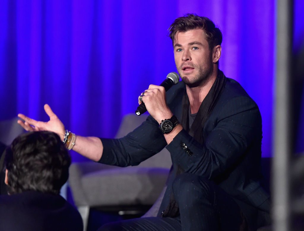 "Chris Hemsworth at Marvel Studios' ""Avengers: Endgame"" Global Junket Press Conference"