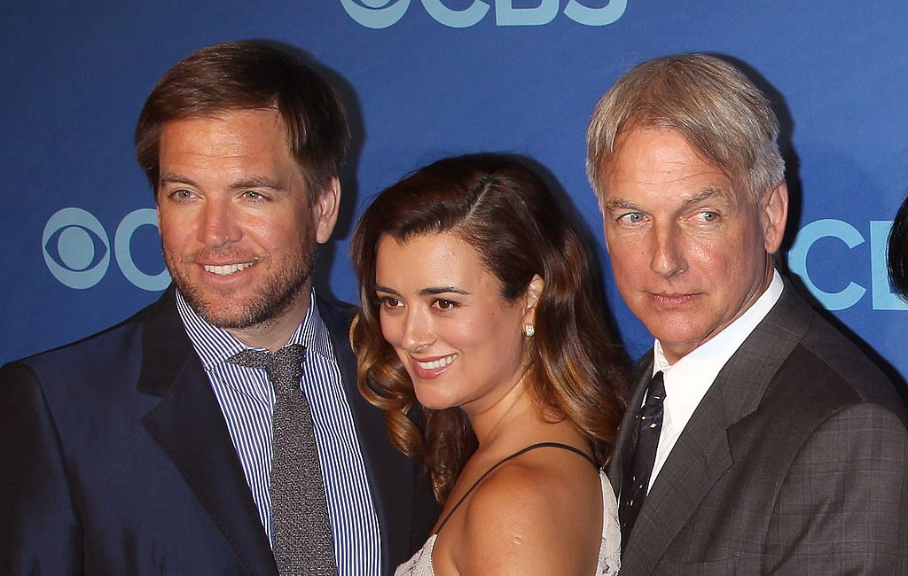 Cote de Pablo with Michael Weatherly and Mark Harmon|Jim Spellman/WireImage