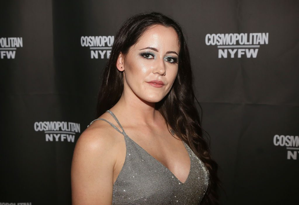 Jenelle Evans poses at the Cosmopolitan New York Fashion Week #Eye Candy event After Party at Planet Hollywood Times Square on February 8, 2019.