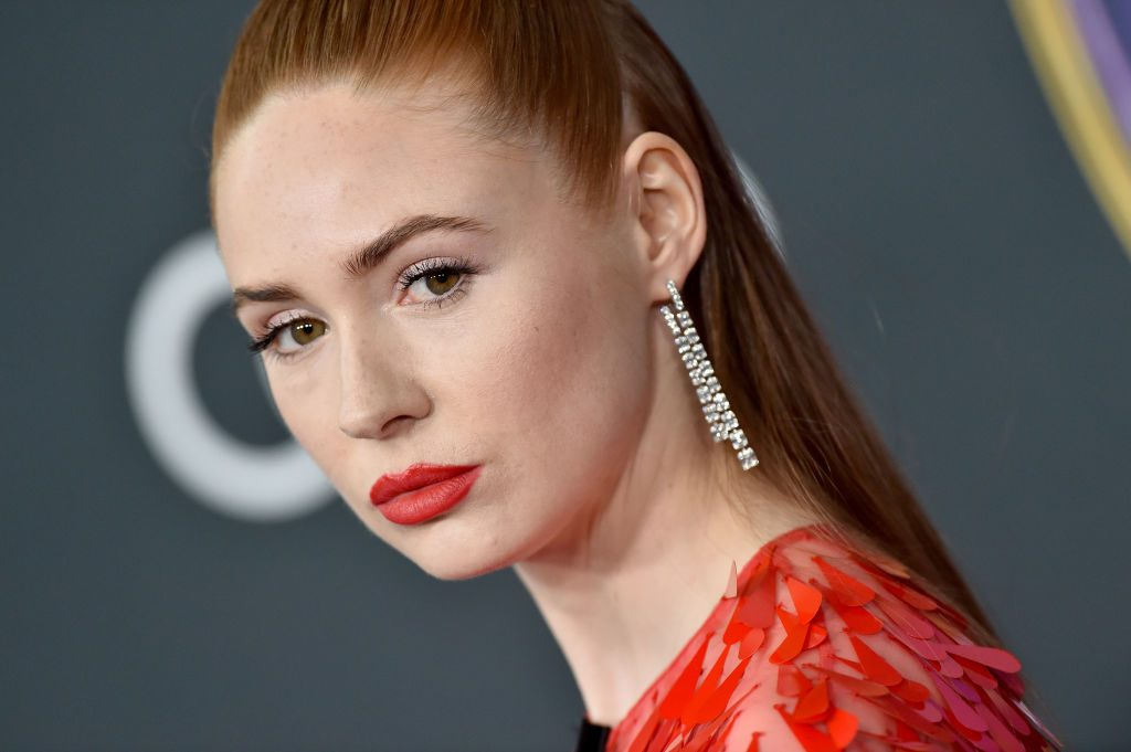 Karen Gillan attends the World Premiere of Avengers: Endgame at Los Angeles Convention Center on April 22, 2019.