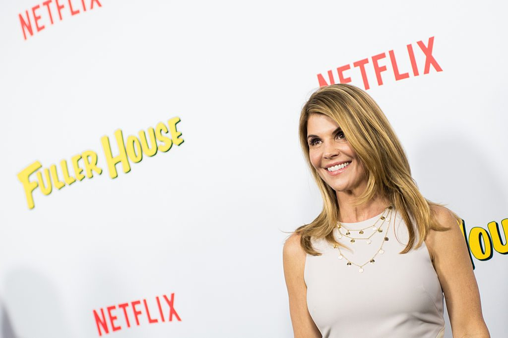 Actress Lori Loughlin attends the premiere of Netflix's Fuller House at Pacific Theatres at The Grove on February 16, 2016, in Los Angeles, California.