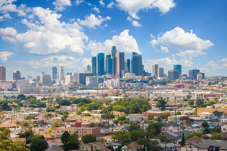 View of Los Angeles skyline