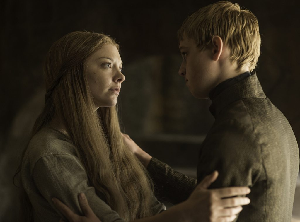 Margaery Tyrell comforts Tommen