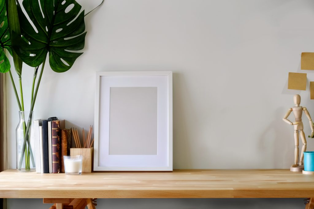 Picture frame on a table
