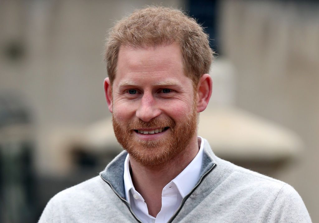 Prince Harry, Duke of Sussex, speaks to members of the media at Windsor Castle in Windsor, west of London on May 6, 2019, following the announcement that his wife, Britain's Meghan, Duchess of Sussex has given birth to a son