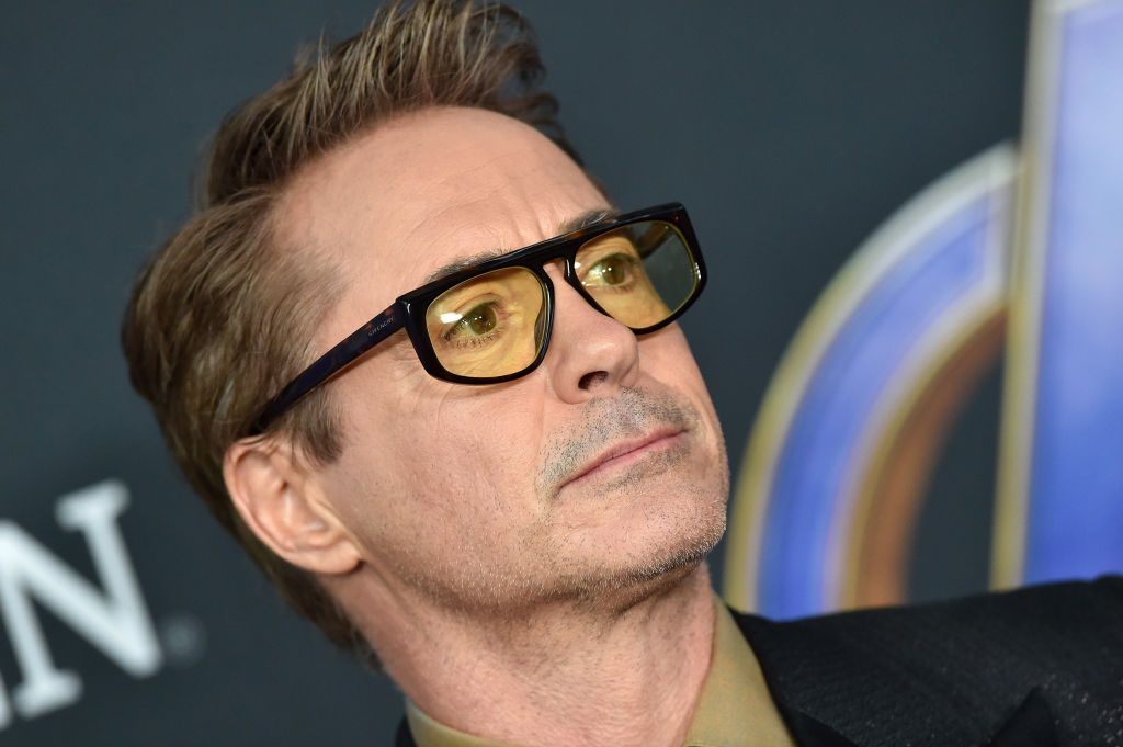Robert Downey Jr. attends the World Premiere of Avengers: Endgame at the Los Angeles Convention Center on April 22, 2019.