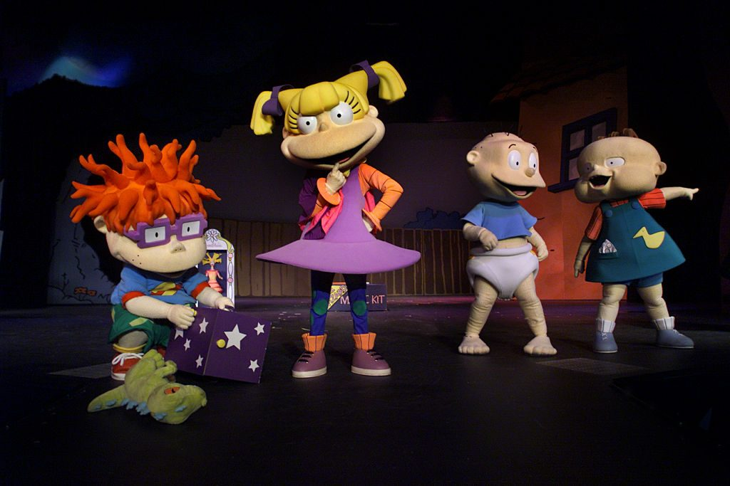 Rugrats characters perform in a rehearsal for the new Rugrats Magic Show opening June 9th at Universal Studios Hollywood