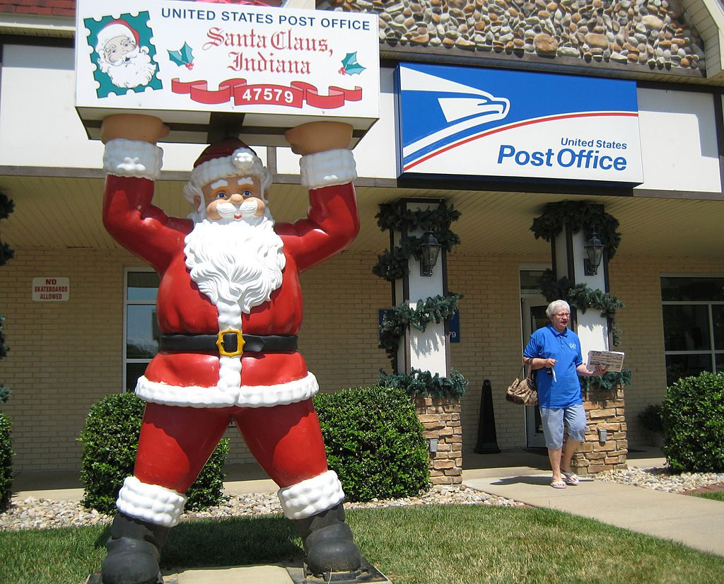 Post office in the town of Santa Claus