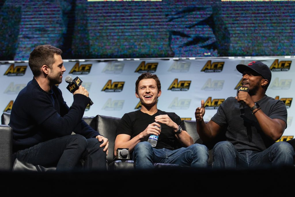 Sebastian Stan, Tom Holland and Anthony Mackie