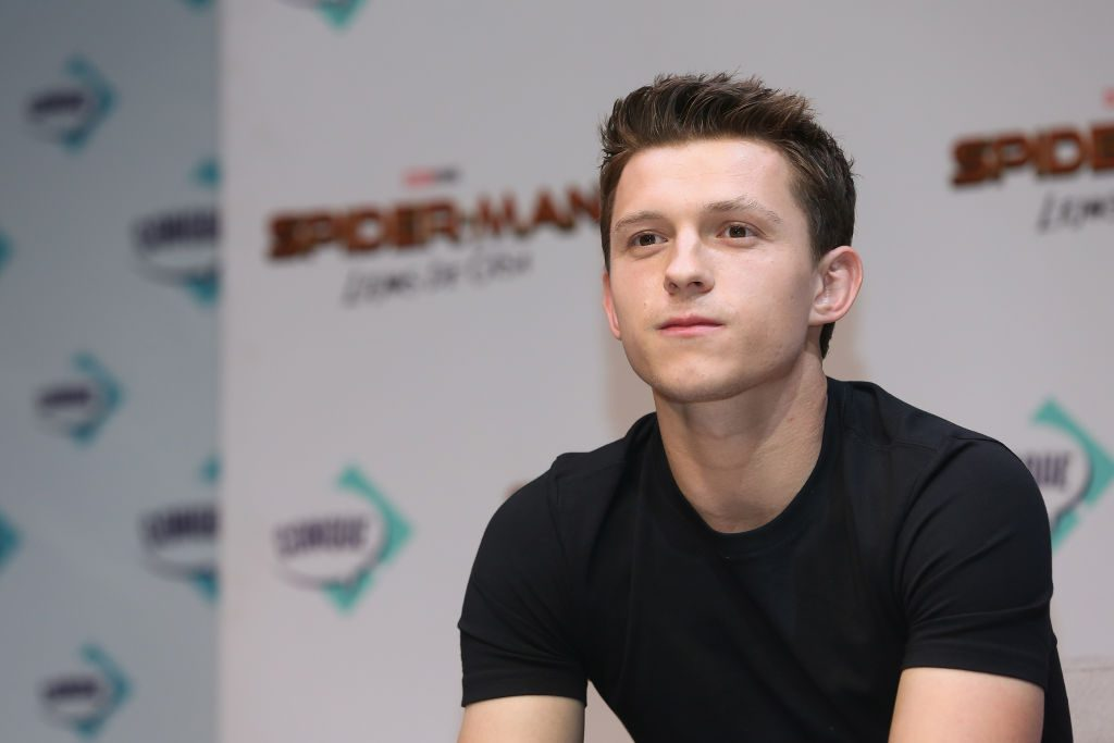 Tom Holland attends Conque 2019 to present the new film Spider-Man: Far From Home at Centro de Congresos on May 4, 2019, in Queretaro, Mexico.
