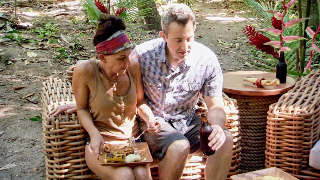 ulie Rosenberg and her loved one on the twelfth episode of SURVIVOR: Edge of Extinction