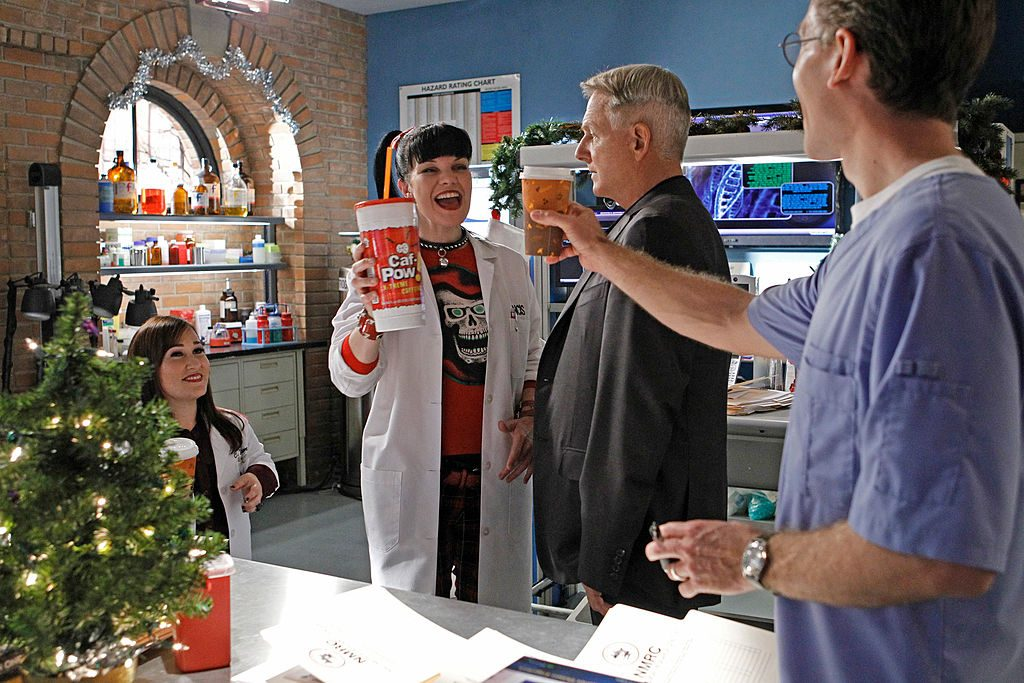 Abby, Gibbs, and NCIS team| Sonja Flemming/CBS via Getty Images