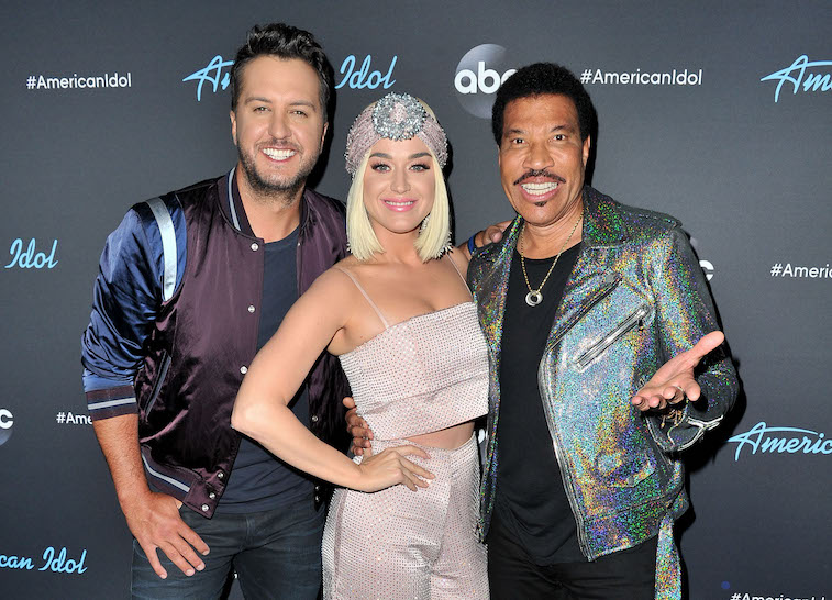 Judges Luke Bryan, Katy Perry and Lionel Richie