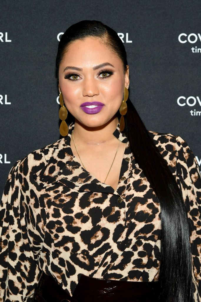 Ayesha Curry at a Covergirl event  Mike Coppola/Getty Images for Covergirl