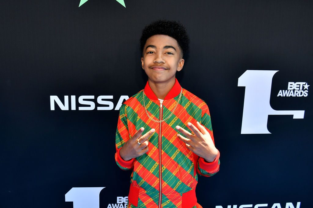 Miles Brown attends the 2019 BET Awards at Microsoft Theater on June 23, 2019, in Los Angeles, California.