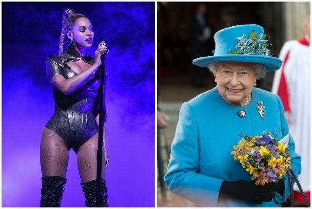Beyonce and Queen Elizabeth II