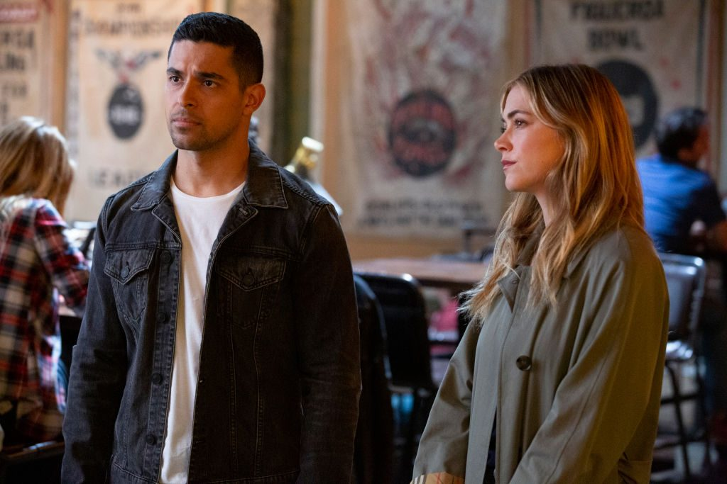 "Wilmer Valderrama as NCIS Special Agent Nicholas ""Nick"" Torres and Emily Wickersham as NCIS Special Agent Eleanor ""Ellie"" Bishop 