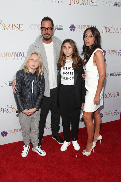 Chris Cornell and family