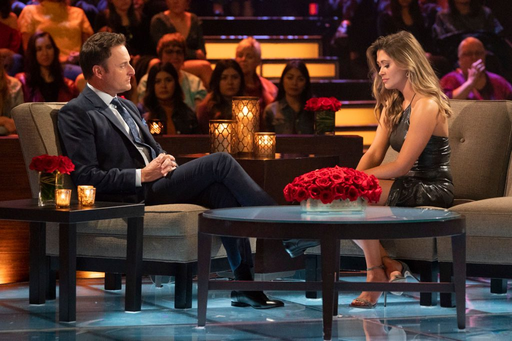 Chris Harrison and Caelynn Miller-Keyes | Eric McCandless via Getty Images