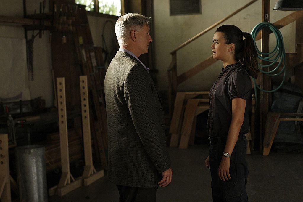 Cote de Pablo and Mark Harmon, NCIS | Cliff Lipson/CBS via Getty Images