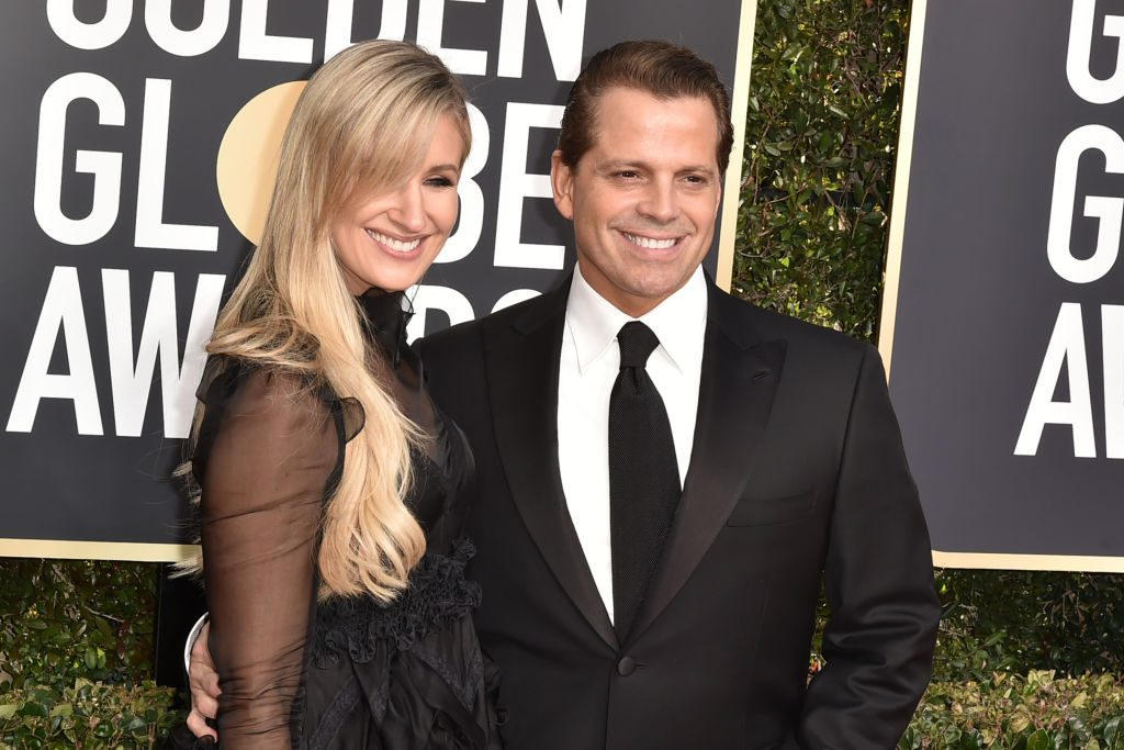 Deidre Ball and Anthony Scaramucci attend the 76th Annual Golden Globe Awards