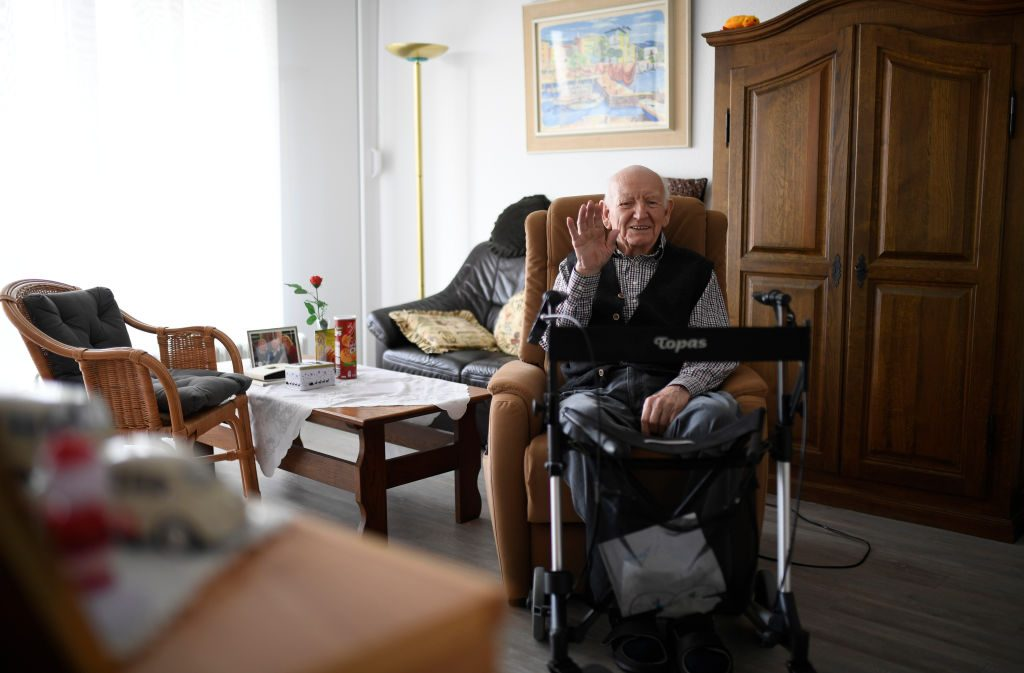 A happy man with dementia