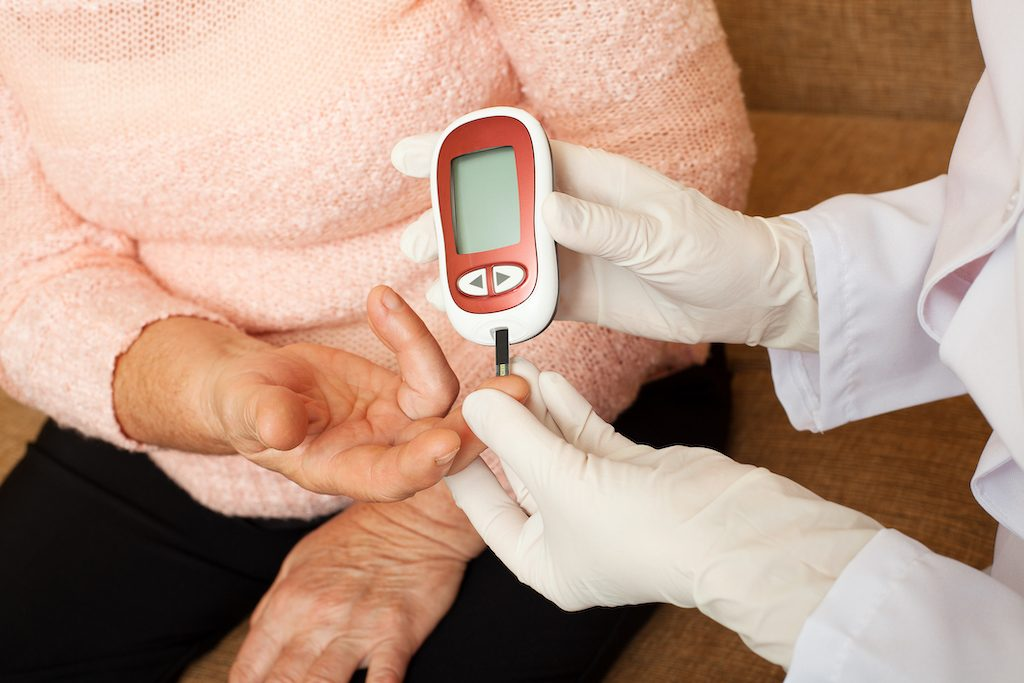 Nurse takes test for diabetic