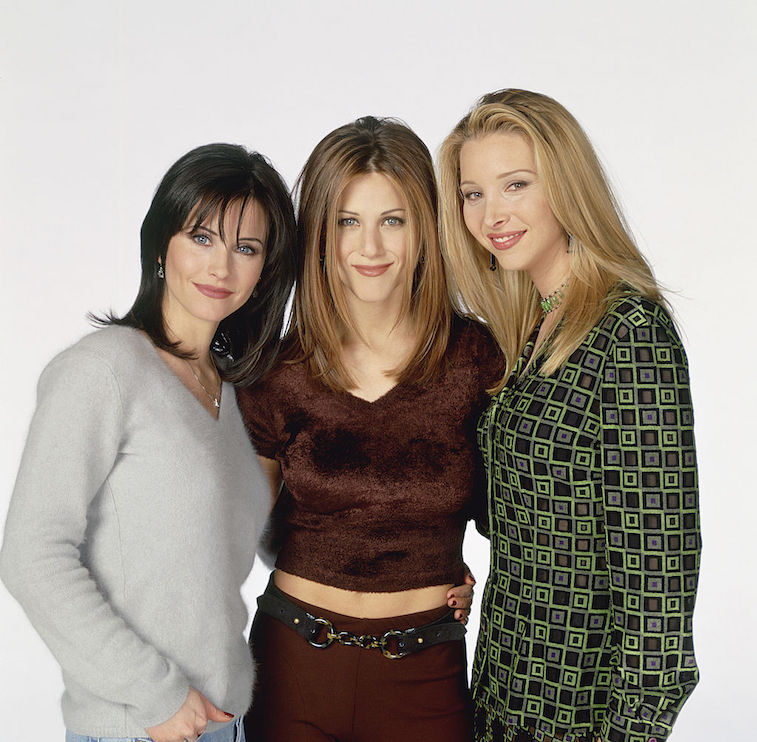 Courtney Cox, Jennifer Aniston, and Lisa Kudrow of 'Friends'