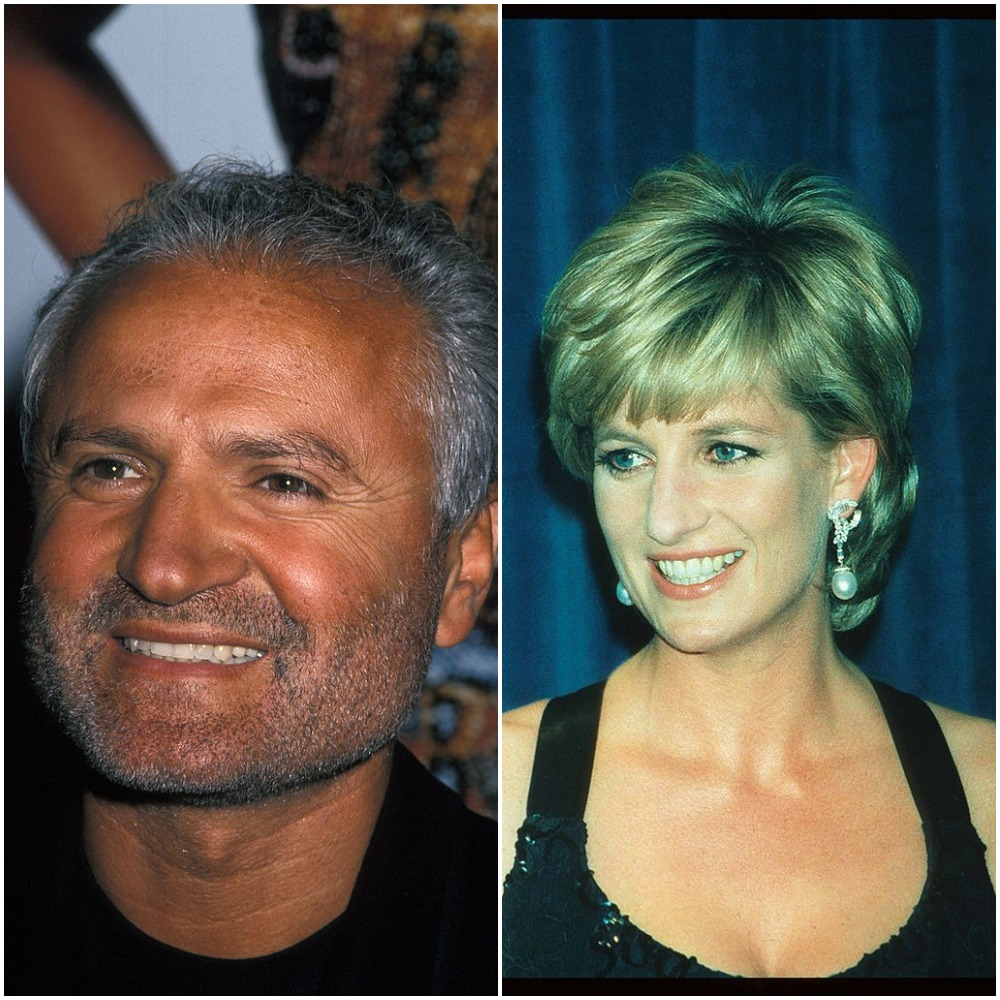 Gianni Versace and Princess Diana