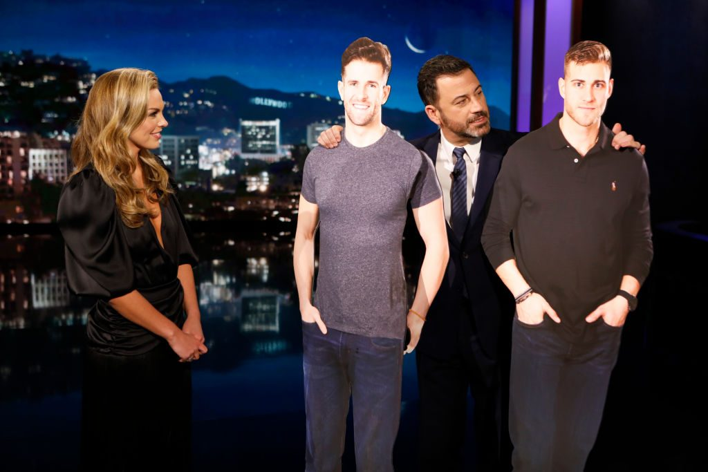 """Hannah Brown and Jimmy Kimmel on """"Jimmy Kimmel Live!"""""""