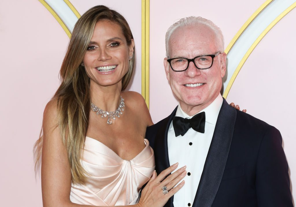 Heidi Klum (L) and Tim Gunn (R) attend the Amazon Prime Video post 2018 Emmy Awards party