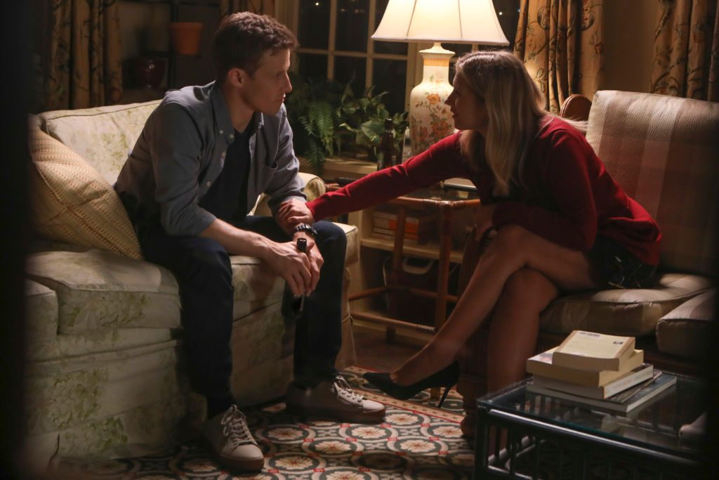 "Will Estes as Jamie Reagan and Vanessa Ray as Eddie Janko on ""Blue Bloods"""