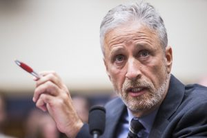 What Made Jon Stewart Choke Up at Congress?