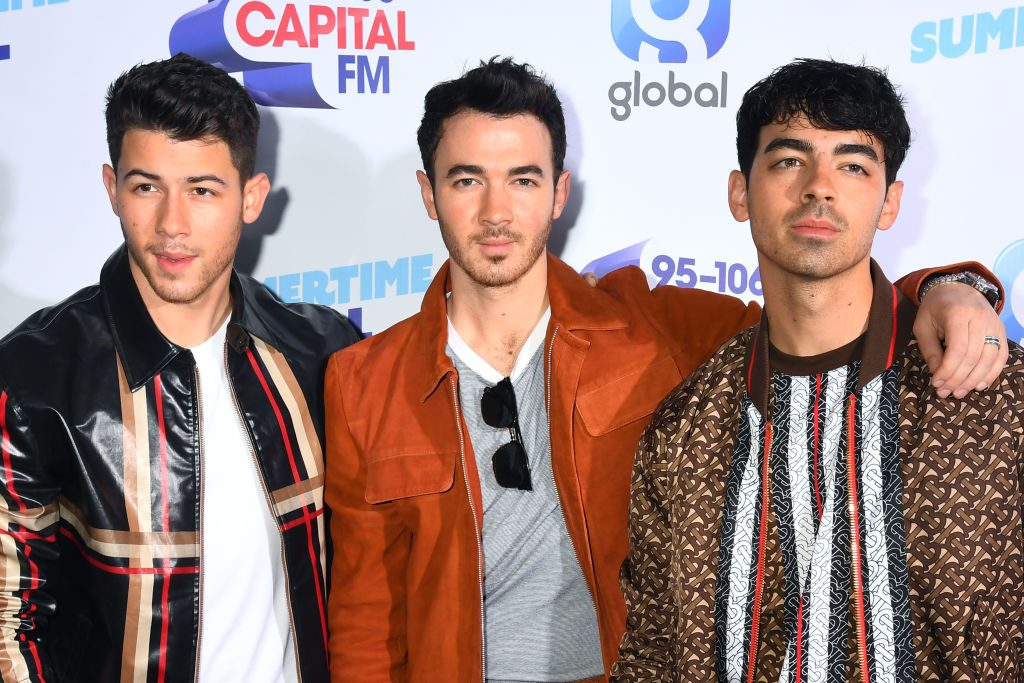 Jonas Brothers attend the Capital FM Summertime Ball at Wembley Stadium on June 08, 2019