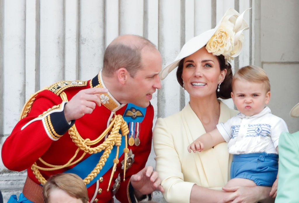 Kate Middleton, Prince William, and Prince Louis |  Max Mumby/Indigo/Getty Images