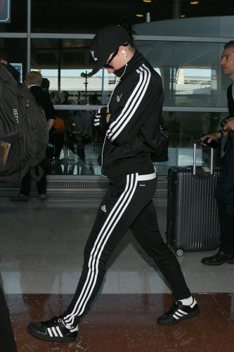 Katy Perry in ADIDAS tracksuit