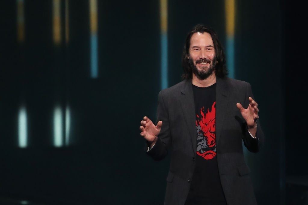 """Keanu Reeves speaks about """"Cyberpunk 2077"""" Xbox Event At E3 Show In Los Angeles"""