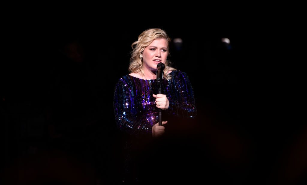 Singer/songwriter Kelly Clarkson performs at the Sands Cares INSPIRE 2019 charity concert